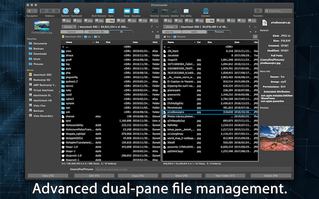 DCommander - Advanced File Manager for Mac with FTP, SFTP